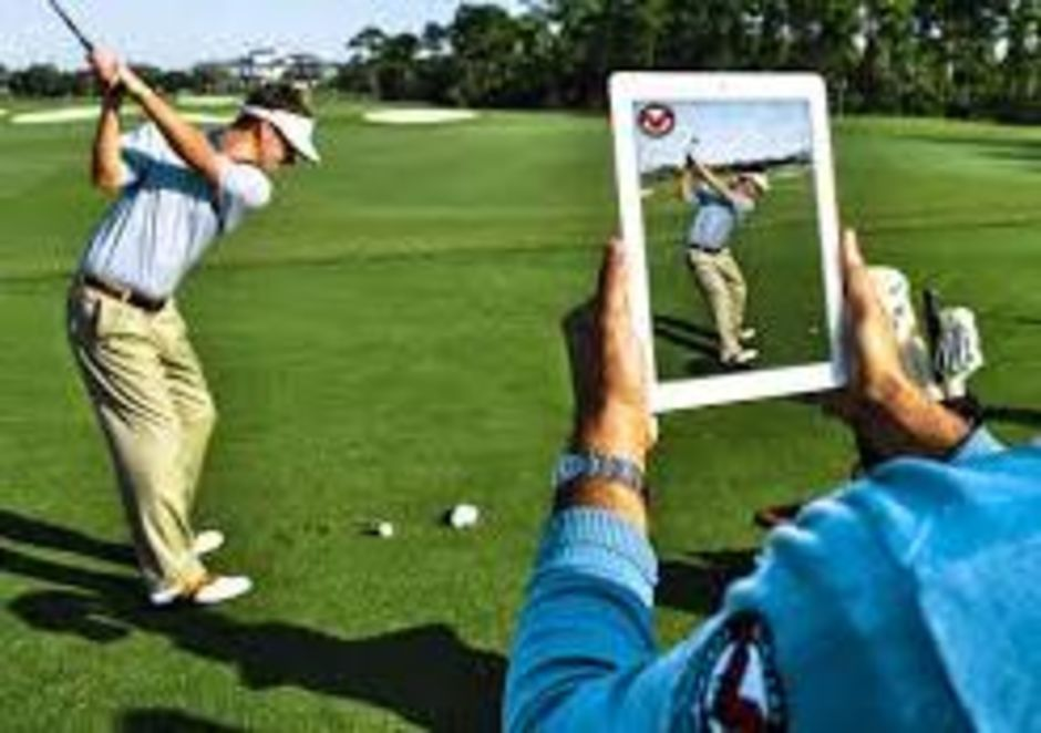 Outdoor coaching with flightscope