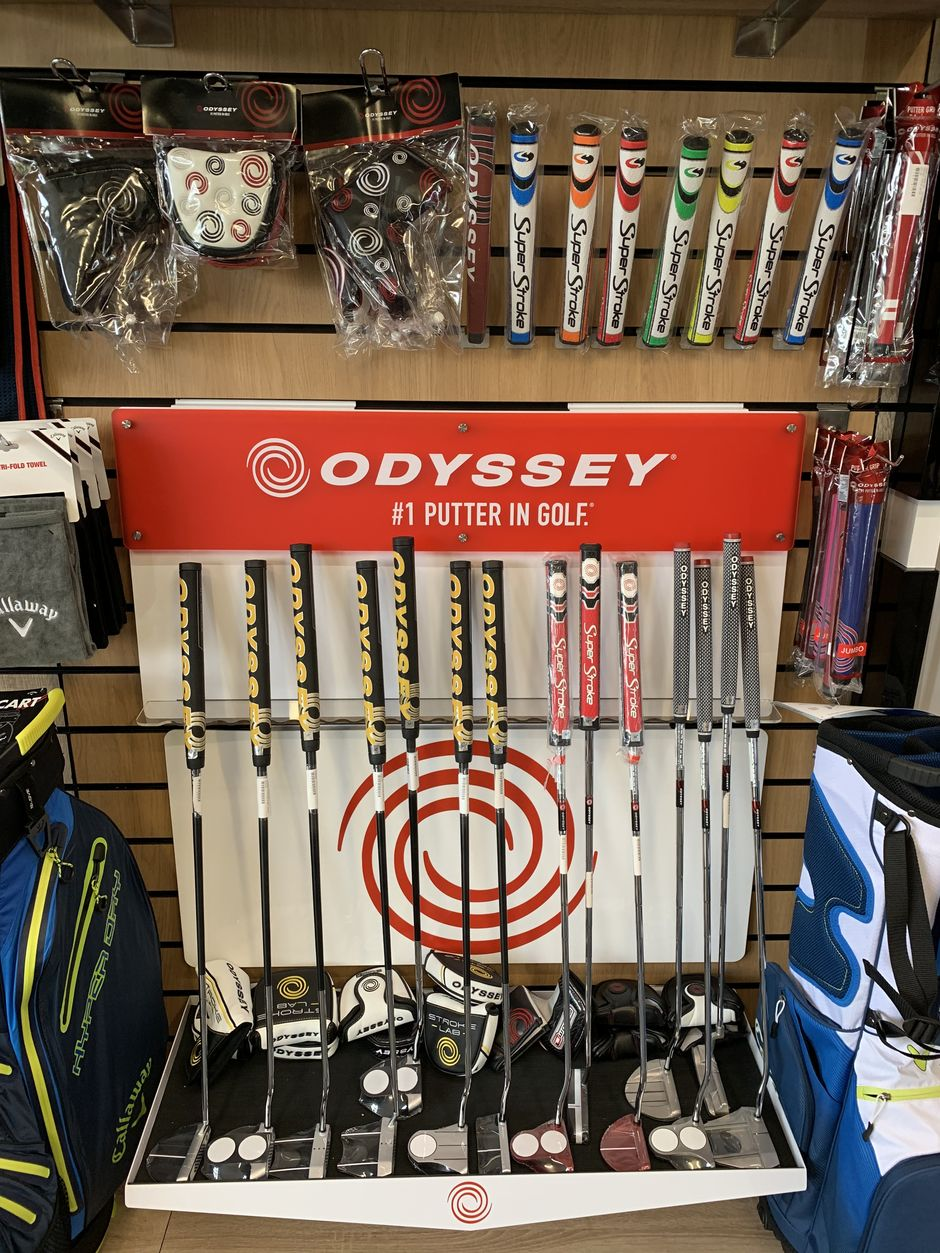 Putter bar with the latest Odyssey putters