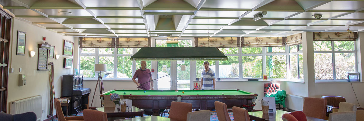 Snooker Table in the Clubhouse